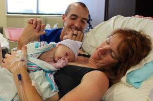 Baby Rowan & parents