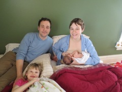 Clementine & family postpartum